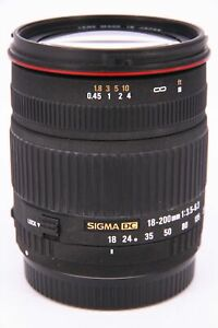 SIGMA 18-200 f/3.5-6.3 DC for Canon with fault Professionally tested