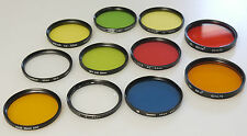 (PRL) 11 LOTTO FILTRI 55 58 62 mm SKYLIGHT COLORS B/N B/W N/B NOIR BLANC FILTERS