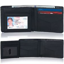 Alpine Swiss RFID Mens Wallet Deluxe Capacity Hybrid Bifold Flipout ID Window