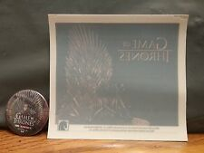GAME OF THRONES     LOT OF 2     BUTTON / WINDOW CLING   2013 HBO