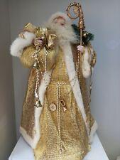More details for the leonardo collection porcelain santa claus large figure gold