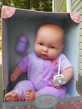 "Berenguer Lots to Cuddle Baby Doll New in Box 20""  Purple White Outfit"