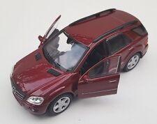 BLITZ VERSAND Mercedes ML 350 bordeaux Welly Modell Auto 1:34-39 NEU & OVP