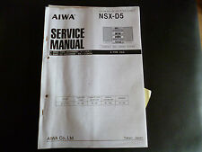 Service MANUAL AIWA nsx-d5