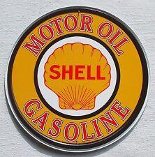 Shell USA Tankstellen Logo Metall Werbung Schild