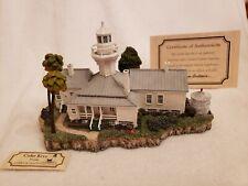 Harbour Lights 268 Cedar Keys, Fl Lighthouse, Signed, Coa, Box Low #174 c.2001