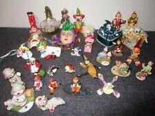 big estate lot of 31 vintage circus clowns clown collectibles porcelain resin