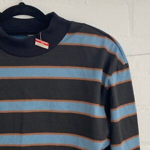 Retro Vintage with Tag SUSSAN Top Three Quarter Sleeve Stripes