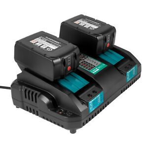 18V 4A Rapid Dual Port Charger & 2pack 5.0AH Battery For Makita BL1830 BL1850