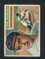 1956 Topps #163 Gene Woodling VGEX Indians 94524