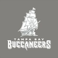 Tampa Bay Buccaneers #16 NFL Team Logo 1 Color Vinyl Decal Sticker Window Wall