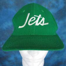 vintage 80s NEW YORK JETS SPORTS SPECIALTIES SCRIPT SNAPBACK HAT football nfl