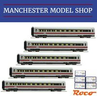 Roco HO 1:87 5-piece ICE 2 Coach set to complete full train DB AG V-VI NEW BOXED