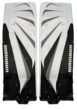 "New Warrior Fortress Pro goalie pads black/silver 34""+2 leg Sr senior ice hockey"