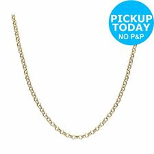 Revere 9ct Yellow Gold 22 Inch Round Hollow Belcher Chain