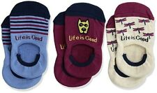 Life is Good Girls' 3-Pack Invisible No Show Socks Size S (7-10)