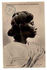 MADAGASCAR, AFRICA ~ SAINTE-MARIE WOMAN, COIFFURE, POSED IMAGE ~ c. 1904-14