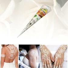 1pc White Natural Herbal Henna Cones Temporary Tattoo Body Art Paint Mehandi Ink