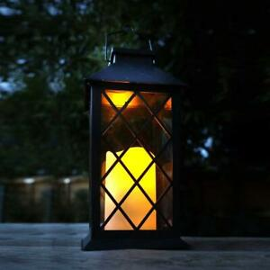 Gardman Solar Powered Hanging Candle Lantern Light - Waterproof Garden Outdoor L