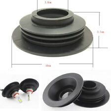 2x Car LED Headlight Black Rubber Seal Cover Dust Proof Cap with Hole Universal