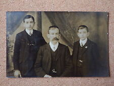 R&L Postcard: Vintage Photo of Edwardian Family, Dress/Clothes/Fashion Mens Suit