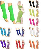 Ladies Girls Teen 80's Dance Plain Ribbed Leg Warmers Legwarmers Tutu Legwarmer