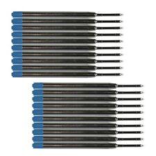 """20x Kugelschreiber Großraummine Typ """"G2"""", Metall, blau, ISO 12757-2"""