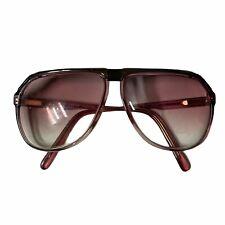 Vintage Gucci Gg 1300 Aviator Eyeglasses 80s Frame Purple