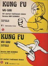 2 Tomes Kung Fu Wu-Shu BANDES DESSINEES Dan Schwarz Techniques du Style Shaolin