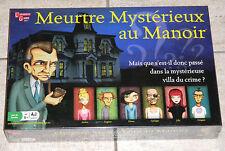 JEU DE SOCIETE - MEUTRE MYSTERIEUX AU MANOIR - 8 ANS ET + - NEUF