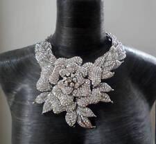Butler and Wilson AB Transparente Rosa De Cristales collar nuevo