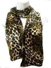 Soft Brown Beige Black Leopard Animal Spot Print Fashion Scarf Long New