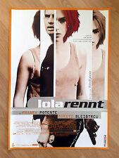 Run Lola Run LOLA RENNT 98 German 1-sheet poster FRANKA POTENTE  Tykwer UNFOLDED