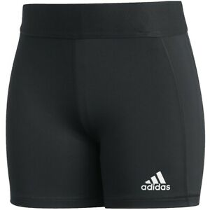 """adidas Women's Tech Fit Volleyball Shorts 3"""" Small, Black FK0993"""