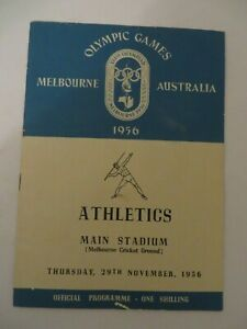 1956 Melbourne Australia Olympic Games Official Programme Atheltics