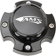 AMS Center Caps SET (4) ATV/UTV Wheel-Front/Back, Black, AMS 12-Spoke ROLL'N 104