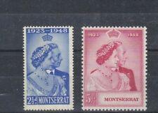 Montserrat  Silver Wedding 1949 Sct 106-107 MLH