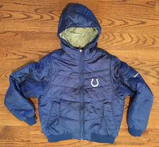Indianapolis Colts NFL Reebok Heavy Jacket Youth Medium Stitched Logo Blue