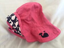 Pottery Barn Kids Whale Pink Reversible Hat 3-6 Mth Nwot