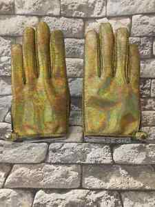 Gold Glitter, Leather gloves size   8,8.5,9,9.5,10
