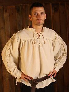 Mittelalter-Hemd, Ärmel geschnürt