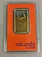 Valcambi Suisse 1 oz Gold Bar .9999 Sealed With Assay Certificate 24 Karat