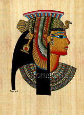 **Rare** Genuine Hand Painted Authentic Egyptian Papyrus (Queen Cleopatra)