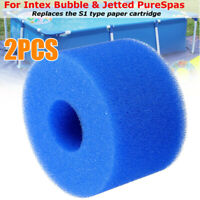 Reusable/Washable Foam Hot Tub Filters Cartridge Pure Spa Pool For Intex S1-Type