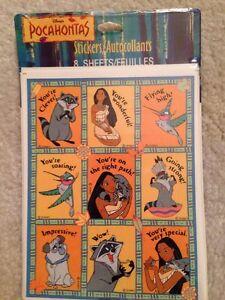 Vtg Hallmark Disney Pocahontas Reward Stickers - 8 Sheet Pkg Sealed! Meeko Flit