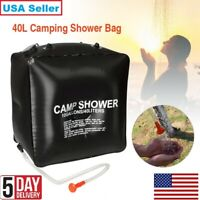 10 gallons/40L Solar Heating Camping Shower Bag Temperature Indicator Hot Water