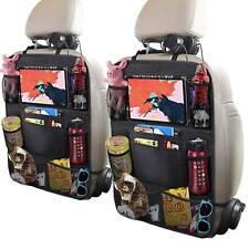 2 PCS Car Back Seat Organiser Travel Storage Bag Organizer iPad Pocket Holder