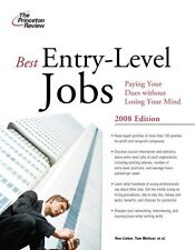 Best Entry-Level Jobs, 2008 Edition (Career Guides