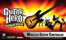 PS2 World Tour Wireless GUITAR with Receiver Dongle Hero 2 3 5 band controller