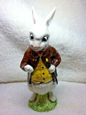 RARE - Alice's Adventures in Wonderland WHITE RABBIT Figure by  Royal Doulton